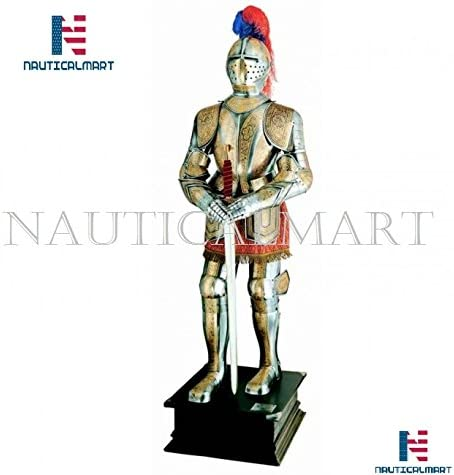 NauticalMart Washington Mall Carlos V Suit of Etched Bargain Gold Halloween Armour -