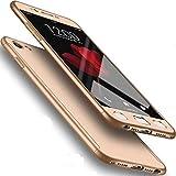 Funda para Galaxy 2015 J5, carcasa rígida de color puro, protector de pantalla para Samsung Galaxy J500, color dorado