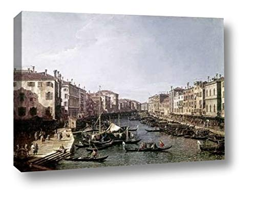 "Grand Canal, Venice by Canaletto - 15"" x 20"" Canvas Art Print Gallery Wrapped - Ready to Hang"