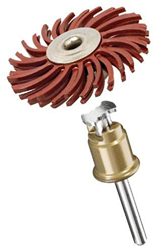 Dremel 473S EZ SpeedClic Feinschleifbürste - Zubehörsatz für Multifunktionswerkzeug mit 1 Feinschleifbürste Körnung 220 25mm zum Entgraten, Reinigen und Polieren von Kunststoff, Holz und Metall