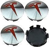4 Piezas Tapas Rueda Centro Tapacubos De Abs Para Tesla Model X Model S Model 3 60mm, Tapas Centrales, Centro Hub Caps, Cubierta De Polvo, Rueda Logo Insignia Coche Accesorios
