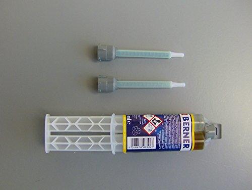 Preisvergleich Produktbild Berner 2-Komponenten-Klebstoff,  super schnellklebend,  Doppelspritze,  25 ml,  49818