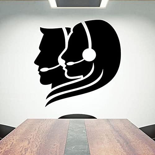 Kundtjänst Väggdekal Vinyl Väggdekor Kontor Kreativ inredning Dekoration Inspirerande Bra idé Väggkonst 96x96cm