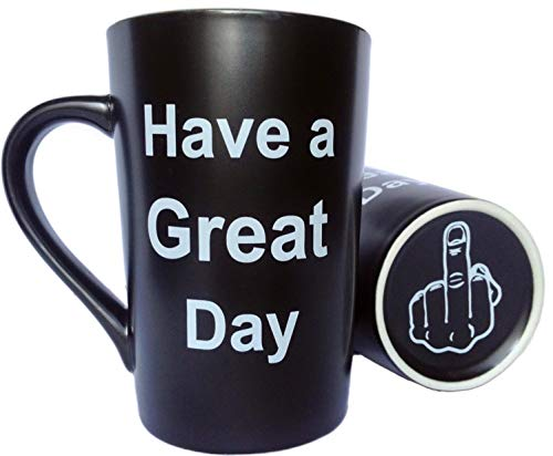 Funny Christmas Gifts Coffee Mug Have a Great Day Ceramic Cup Black, Office...