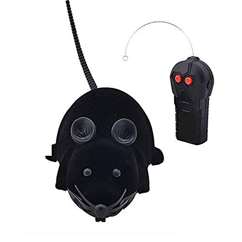 Digital baby Novelty Funny RC Wireless Remote Control Rat Mouse Toy for Cat Dog Pet Black,Gray,Brown (Black)