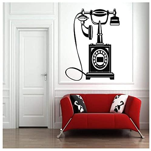 Calcomanías De Vinilo Para Pared, Decoración, Diseño De Habitación, Teléfono Retro Antiguo, Pegatinas Para Sala De Estar Vintage, 40X56Cm