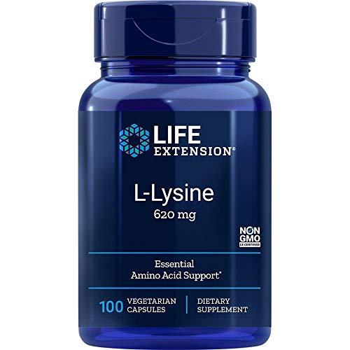 Life Extension, L-Lysin, 620 mg, 100 vegane Kapseln