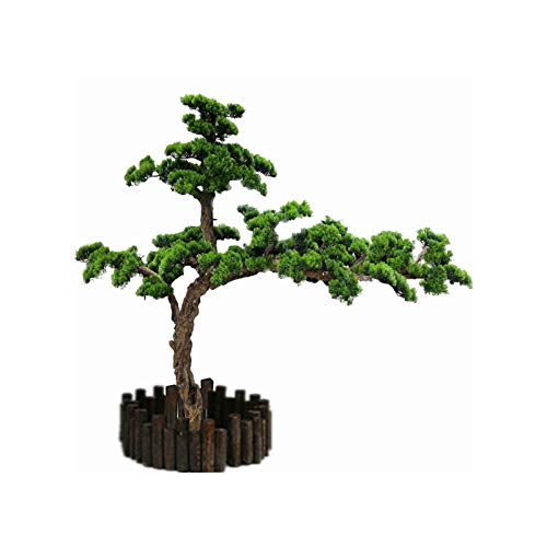 Xu Yuan Jia-Shop Artificial Plants in Pots Artificial Simulation Pine Tree Plastic Fake Plant Garden Family Bedroom Office Decoration Green Simulation Tree Height 23.62 Inches Artificial Bonsai Tree