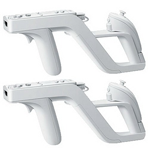 YiYunTE 2 Zapper Pistola Gun para Mando Inalámbrico Wii Controlador Remoto Inalámbrico Juego para Nunchunk Mando Wii