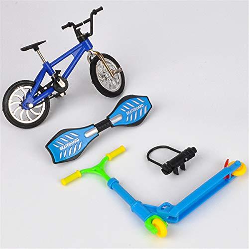 Ocobudbxw Mini Scooter Zweirad Roller Kinder Lernspielzeug Fingerscooter Fahrrad