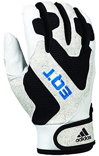 adidas EQT Adult Baseball and Softball Batting Glove, White/Black, 2X-Large