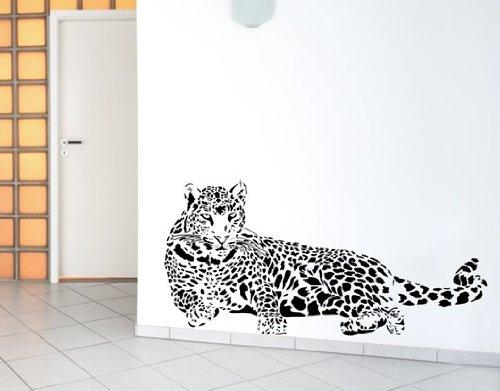 Wandtattoo Leopard Nr.133 Wandaufkleber Wandmotiv (Größe: 1,20m x 0,58m)