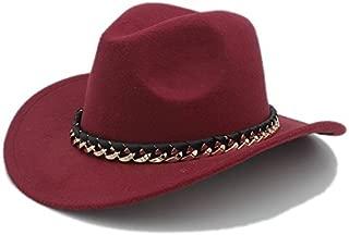 JAUROUXIYUJI New Fashion Women Men's Western Cowboy Hat for Gentleman Cowgirl Jazz Church Cap with Leather Cloche Sombrero Cap (Color : 6, Size : 57-58cm)