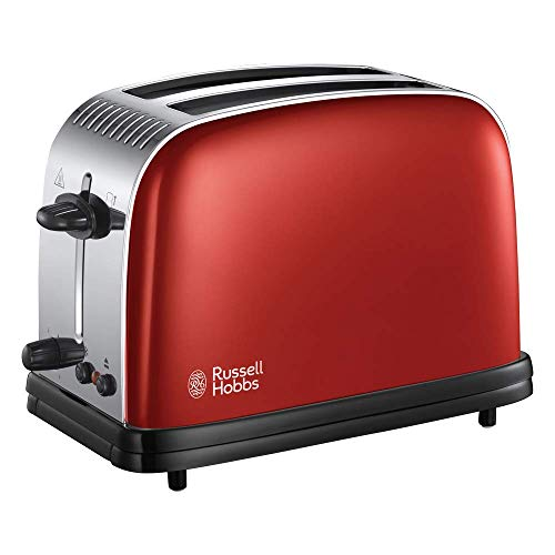 Russell Hobbs 23330 Stainless Steel 2 Slice Toaster, Red