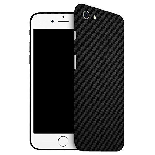 IDTB SKINS Adesivi Skin Sticker Pellicola (Non Custodia Cover),Smartphone Wrapping Ultra Sottile e Resistente Alle Impronte Digitali Caso (iPhone 7, Carbonio Nero)