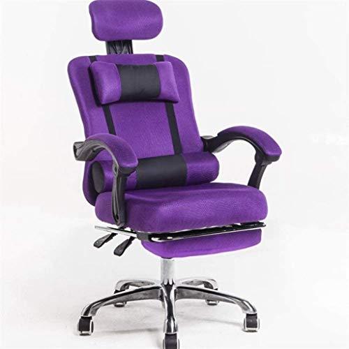 Schreibtischstuhl, Bürostuhl Ergonomischer Swivel-Executive-justierbare Task-Computer-High-Back-Stuhl mit Rückenunterstützung Sessel (Color : A)