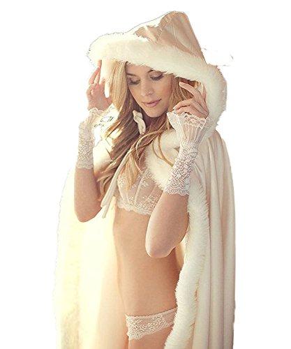 Madedress ivoor rood warm winterbont lange bruid mantel bolero omhang bruidsstola sjaal stola voor bruidsjurk bruiloftsjurk