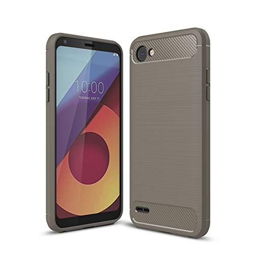 Skhawen 1fortunate Cajas del teléfono para LG Q6, Cubierta de Estilo de Silicona Suave a Prueba de Golpes para LG Q6 Q6A M700 5.5' (Color : Gris)