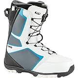 Nitro Sentinel TLS Boot'21 Bottes de Snowboard pour Homme, Blanc/Noir/Bleu, 285