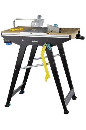 Wolfcraft MASTER Cut 1500 Werk- und Maschinentisch 6906000 inkl. Zubehör / Kompatibel mit Handkreissägen, Oberfräsen, Stichsägen / Ideal für Heim- und Handwerker