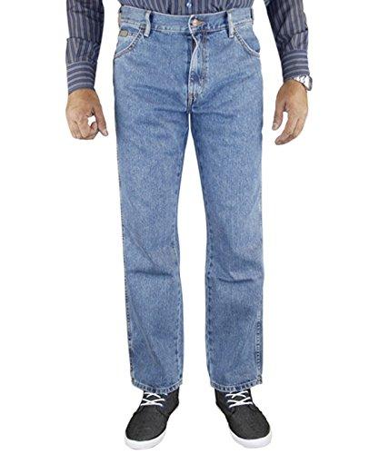 Mens Wrangler Regular Fit Denim Jeans Stone wash 38 waist 32 Leg