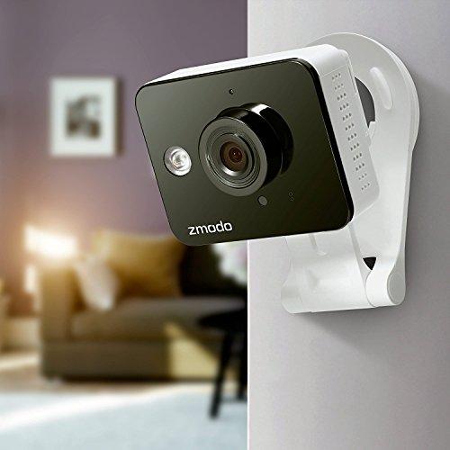 Zmodo ZM-SH75D001-WA 720p HD Mini WiFi Camera with Two-Way Audio and Remote Monitoring