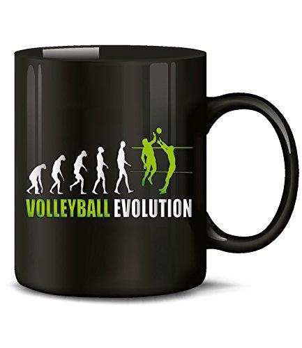 Volleyball Evolution Sport 542 Sport Tasse Geschenke Geschenkideen Geburtstag Weihnachten Männer Mädchen Tasse Becher Frauen Kaffeebecher Schwarz-Grün