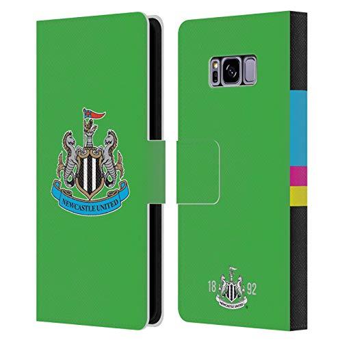 Head Case Designs Licenciado Oficialmente Newcastle United FC NUFC Portero Inicio Kit Carcasa de Cuero Tipo Libro Compatible con Samsung Galaxy S8