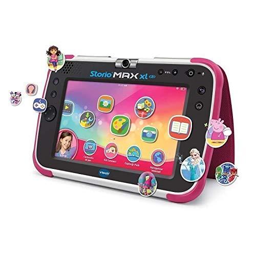VTech – Tablet Storio Max XL 2. Rosa – 7 Zoll Kinder-Tablet 1{d7e57e756e95266ccbd4db7759e62e72901b9d300e7e73f3d5d3d8f985fbeedc} Lernfunktion – französische Version