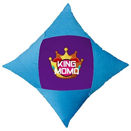OFFbb-USA Brasilianischer Karneval King Character Überwurfkissen, Blau