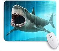 マウスパッド 個性的 おしゃれ 柔軟 かわいい ゴム製裏面 ゲーミングマウスパッド PC ノートパソコン オフィス用 デスクマット 滑り止め 耐久性が良い おもしろいパターン (深海のサメホオジロザメ海洋生物)