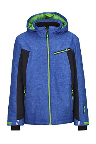 Killtec Skijacke Jungen Jedd Jr - Funktionsjacke mit Schneefang - Jungenjacke mit Kapuze - Winterjacke Kinder - 10.000 mm Wassersäule, royal, 176