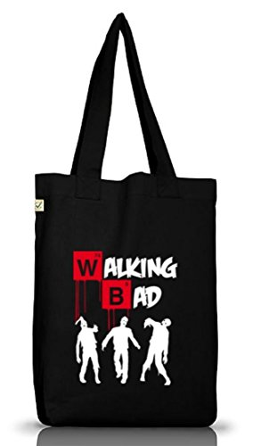 Shirtstreet24, Walking Bad, Halloween Zombie Jutebeutel Stoff Tasche Earth Positive (ONE SIZE), Größe: onesize,Black