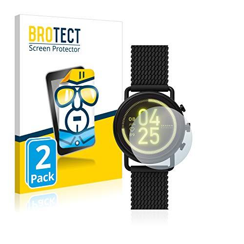 BROTECT Schutzfolie kompatibel mit Skagen Smartwatch Falster 3 (2 Stück) klare Bildschirmschutz-Folie