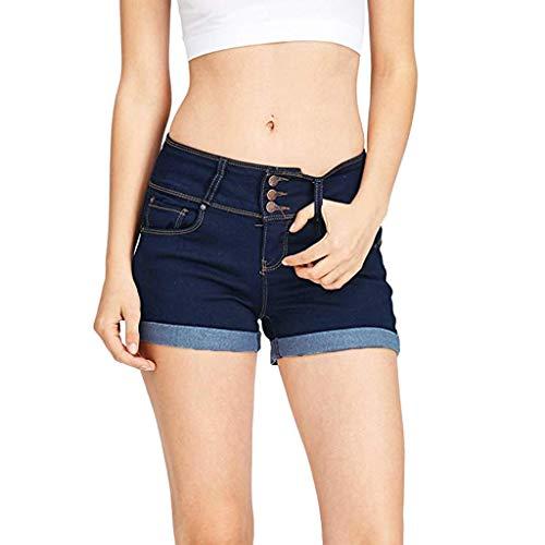 Vectry Pantalones Vaqueros Cortos Mujer Leggins Vaqueros Rotos Mujer Pantalones Cortos De Talla Grande Pantalones De Verano Mujer Talla Grande Leggins Deportivos Vaqueros Azul