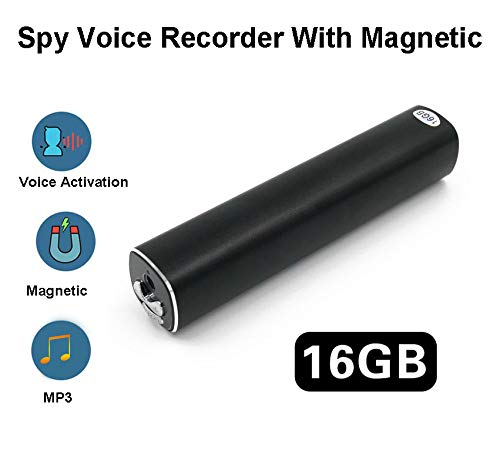 Diktiergerät Mit Sprachaktivierung Spionage Recorder - 500 Stunden Akku nach vollständiger Aufladung - Loop-Aufnahme - Magnetische Absorption - 365 Tage Standby