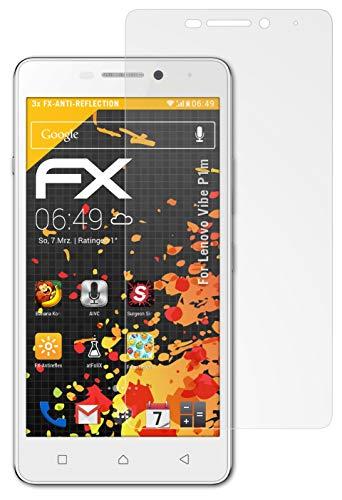 atFolix Panzerfolie kompatibel mit Lenovo Vibe P1m Schutzfolie, entspiegelnde & stoßdämpfende FX Folie (3X)