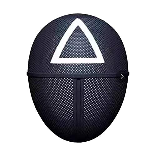 Maschera da gioco Gioco horror Costume cosplay Accessorio per travestimento Copertura integrale Feste del festival Maschera cosplay per uomo donna, triangolo