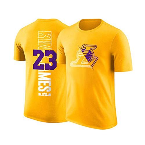 Camiseta de Manga Corta para Hombre Los Angeles Lakers Lebron James # 23 Uniforme de Baloncesto, Camiseta de Hombre para niños Fans para Ocio y competición.