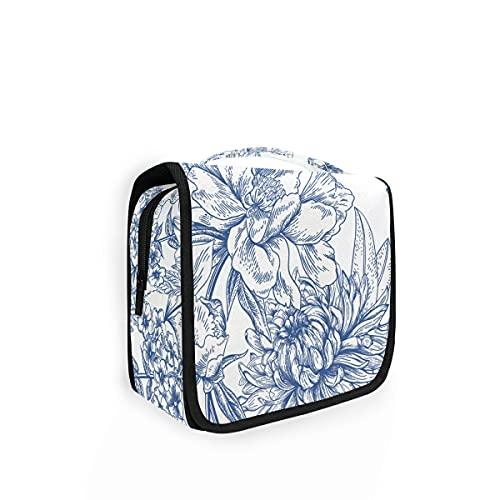 Bolsa de aseo de viaje para colgar 1 kit de flores, organizador de cosméticos para hombres y mujeres