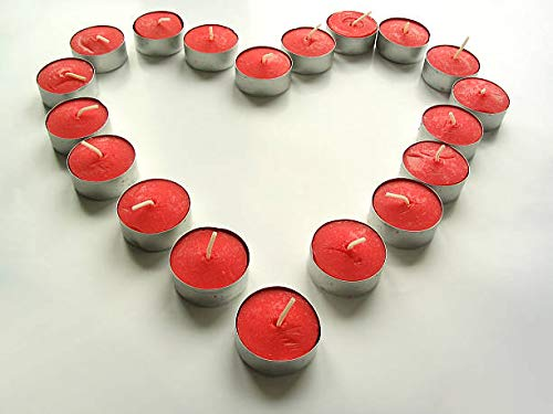 SINNLIG Red Berry Scented Candle | Scented Tealight Candles | Long Lasting Night Light Candles | Home Sweet Home Decoration | A Calm and Quiet Place | Set of 30