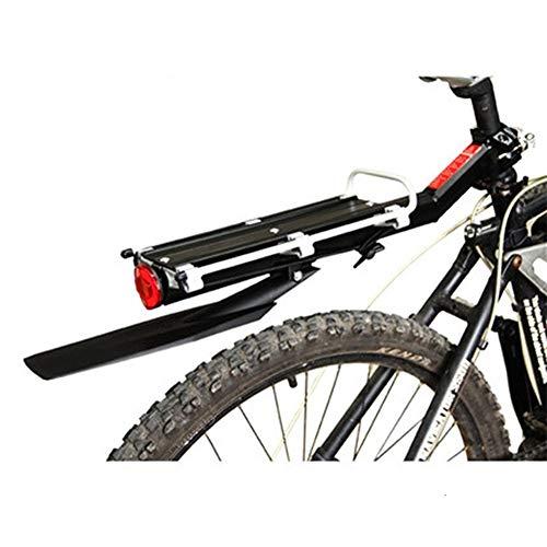 Portabultos Bicicleta La bicicleta de ciclo carga trasera del estante de aleación de aluminio desmontable al portaequipajes estante bolsa del sostenedor MTB Volver estante con Fender Portaequipajes Pa