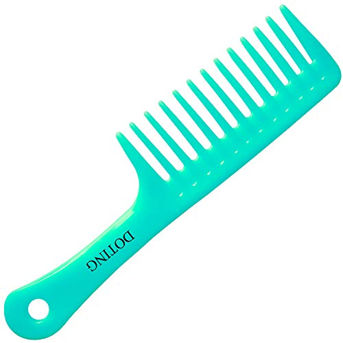 Wide Tooth Comb for Curly Hair,Long Hair,Wet Hair,Detangling Comb Large(cyan)