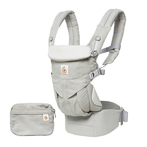 Ergobaby Porte-Bébé Ergonomique Omni 360 pour Nouveau-né, 4-Positions Dorsale et Ventral (Pearl Grey)