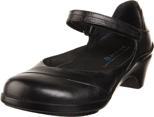 Aravon Womens Maya Pump,Black Leather,10.5 M (B) US