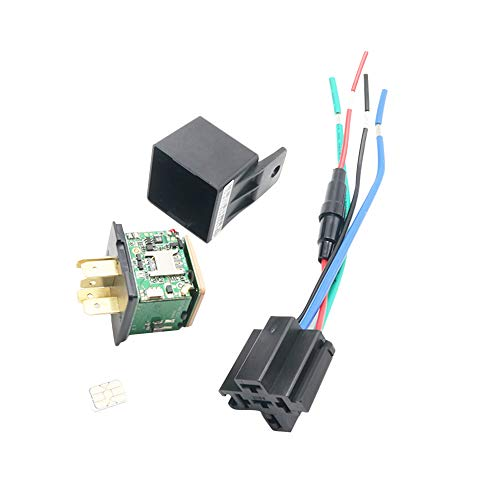 Carrfan Car Tracking Relay GPS Tracker Device GSM Locator Remote Control Anti-Theft Monitoring Cut Off Oil Power System