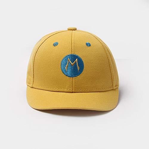 Sombreros para niños Nueva versión Coreana de algodón Puro Letra Logo Redondo Bordado Gorra de béisbol Infantil ala Corta Sombrero de bebé de Moda