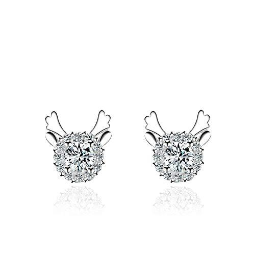 D&M 925 Silber Ohrringe Damen elegante Ohrringe Modeaccessoires hochwertiges, einfaches und vielseitiges Geburtstagsgeschenk