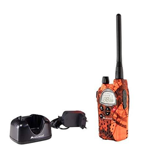 Midland G9 Pro Radio Ricetrasmittente Walkie Talkie Dual Band 40 Canali PMR446 e 69 Canali LPD, Blaze Edition - 1 Ricetrasmettitore, 4 Batterie Ricaricabili AA 1800 mAh, Caricabatterie e Clip Cintura