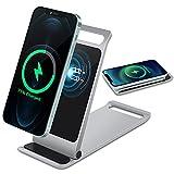 Chargeur sans fil, support de charge magnétique sans fil pour iPhone 12/12 Pro/12 Pro Max/12...